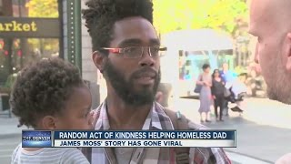 Random act of kindness helping homeless dad