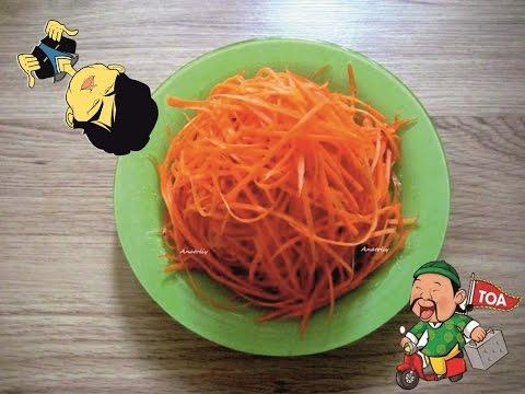 Морковь по-корейски. Салат быстрый, закуска превосходная. Салат от ХАВаЮ.
