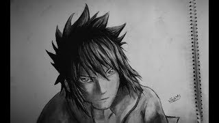 How to draw sasuke uchiha from naruto Shippuden Anime with charcoal pencil in time-lapse