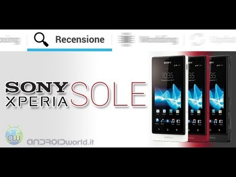 Sony Xperia Sole, recensione in italiano by AndroidWorld.it