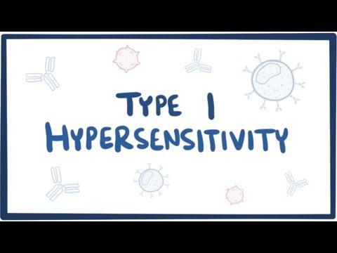 Type I hypersensitivity (IgE-mediated hypersensitivity) - causes, symptoms, pathology thumbnail