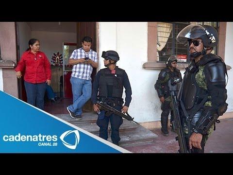 Ejército y Policía Federal asumen seguridad en Apatzingán Michoacán; desarman a agentes