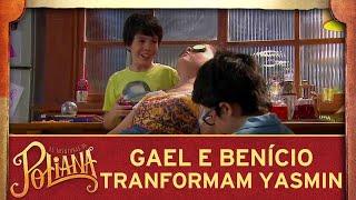 Gael e Benício transformam o cabelo de Yasmin   As Aventuras de Poliana