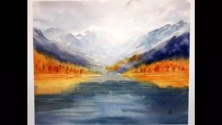 Painting mountains in watercolor