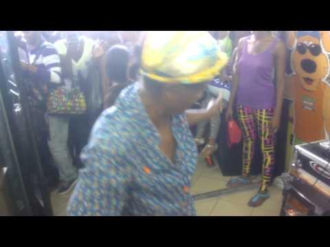 Old Women Dancing Downtown Kingston Jamaica
