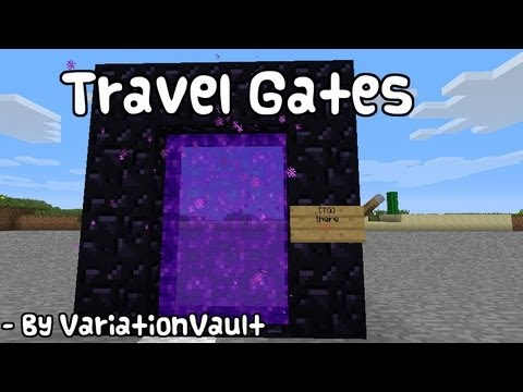 Minecraft Bukkit Plugin - Travel Gates - Teleport with Nether portals - Switch teleporter