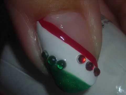 Nail Art - Colores Bandera Mexicana - Diseño de Uñas - YouTube