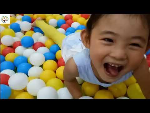 Playground indoor kids fun children slide ball play ball pit