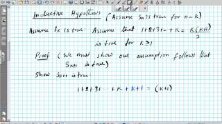 #1 Principle of Mathematical Induction Prove 1+2+3+...+n=n(n+1)/2 maths hsc using proof by induction