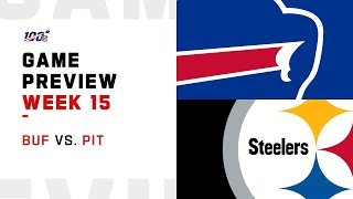 Buffalo Bills vs Pittsburgh Steelers Week 15 NFL Game Preview