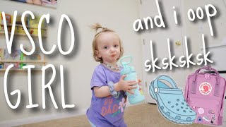 Turning My Baby into a VSCO Girl | Teen Mom Vlog