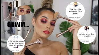 SPILL THE TEA GRWM (FULL GLAM) | WHAT YOUTUBE IS REALLY LIKE *HONESTLY*