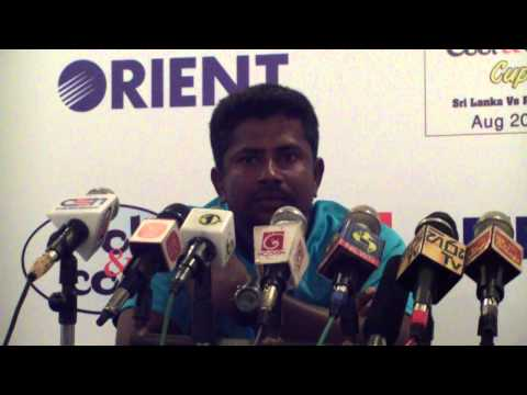 Rangana Herath at the post match press conference - 1st Test match - Pakistan tour of Sri Lanka 2014