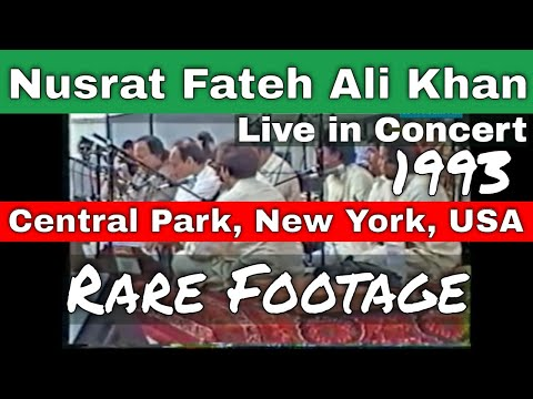 Nusrat Fateh Ali Khan in Central Park New York Full Concert