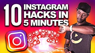10 INSTAGRAM HACKS IN 5 MINUTES 🕙 | HOW TO GROW ON INSTAGRAM 2019
