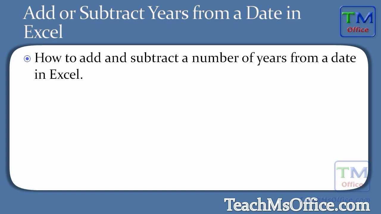 how to add or subtract from a date