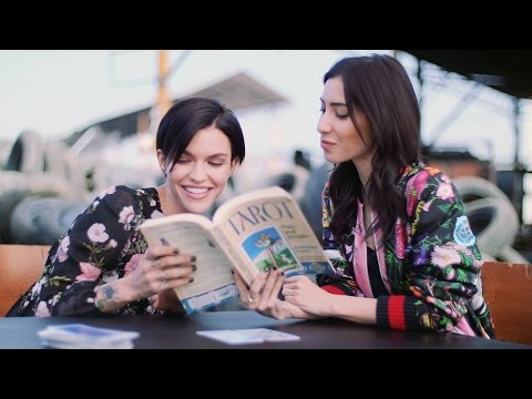 Ruby Rose Reads Tarot Cards With Girlfriend Jessica Origliasso