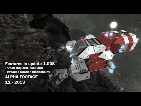 Space Engineers - Hand drill, small ship drill, tweaked rotation functionality
