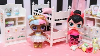 LOL Surprise Dolls Opposites Club Morning Routine & DIY Room Tour - Baby Doll Play w/ Toys and Dolls