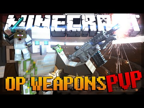 Minecraft GOD WEAPONS MOD OP Weapons Mod PVP w JeromeASF Friends