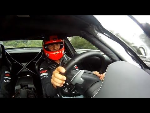 【F1】Michael Schumacher & Nico Rosberg in Mercedes Benz SLS AMG