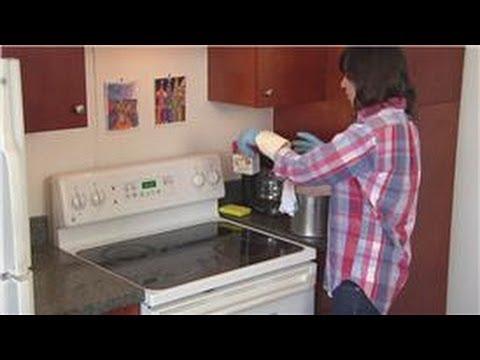how to clean grease off oven glass door