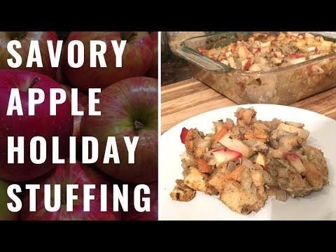 Savory Apple Holiday Stuffing (Vegan, WFPB)