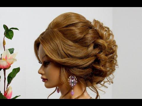 Прическа на средние волосы вечерняя