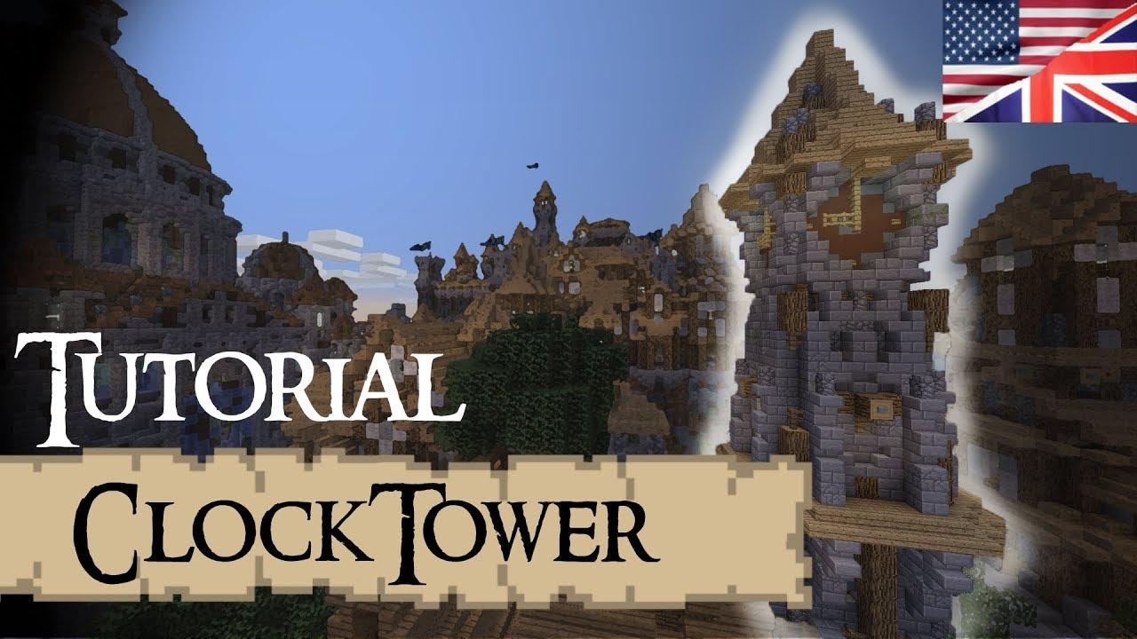 CLOCKTOWER Medieval Minecraft Tutorial English YouTube