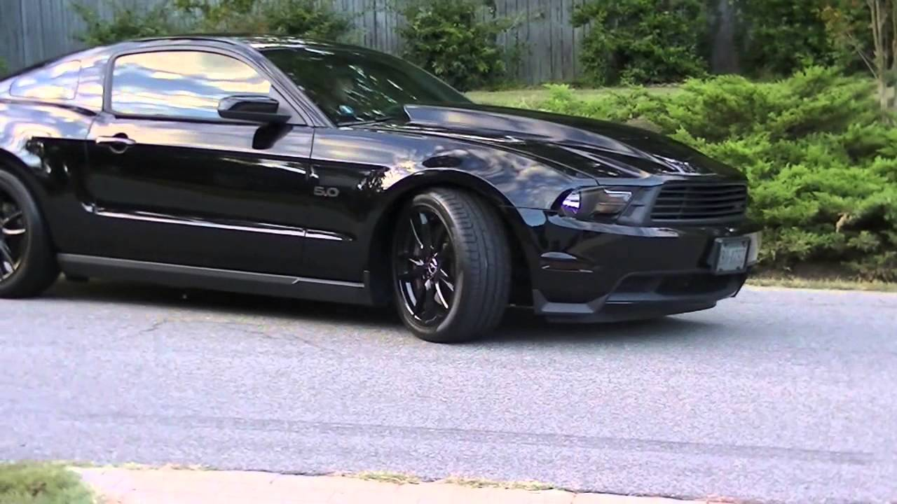 "2016 Saleen Mustang >> ""Murdered Out"" 2012 Ford Mustang GT Triple Black - YouTube"