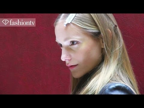 Magdalena Frackowiak Backstage at Valentin Yudashkin Fall 2012 | Paris Fashion Week | FashionTV