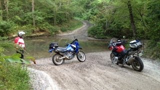BMW R1200GS, KLR650: Deep River Crossing