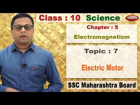 Class 10 | Science | Chapter 05 | Electromagnetism | Topic 7 Electric Motor thumbnail