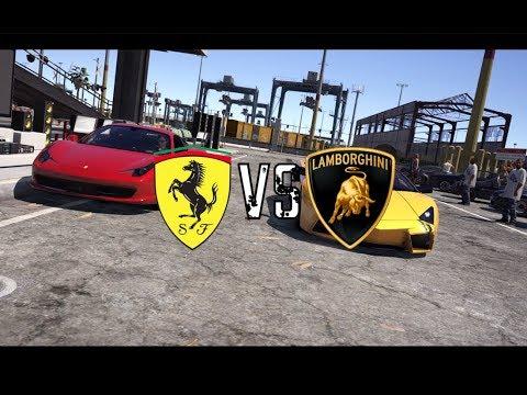 Grand Theft Auto V - Ferrari458 VS Lamborghini  Reventon (GTAV Short Film Machinima)