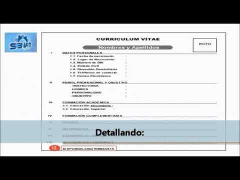 Como hacer un Curriculum Vitae - YouTube
