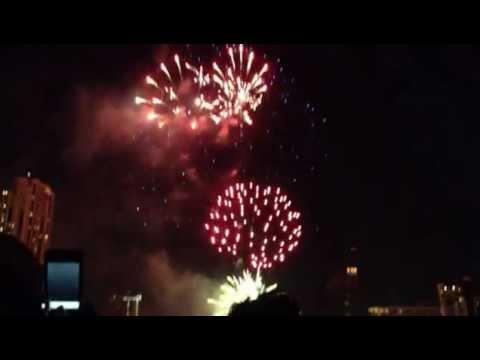 NYE 2013 Fireworks at Chao Phraya River