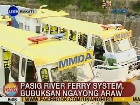 UB: Pasig River ferry system, bubuksan ngayong araw