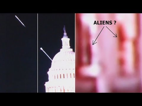 Beam Of Light Registered By a Camera Live Stream of U S  Capitol, 3 Aliens?