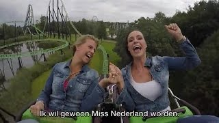 Miss Nederland-kandidaten oefenen hun speech in de achtbaan- RTL LATE NIGHT