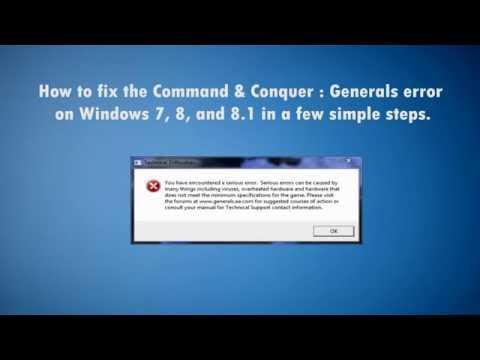 C&C Generals / Zero hour  Fix for Windows 7 and 8 / 8.1