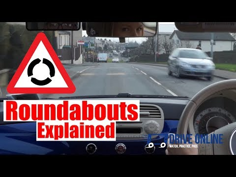 Roundabouts Driving Lesson - How To Negotiate Roundabouts Top Tips.