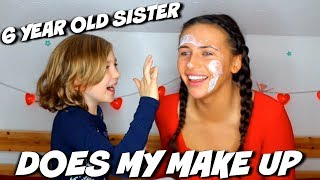 6 YEAR OLD SISTER DOES MY MAKE UP