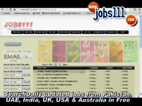 Search Jobs in Pakistan India UAE USA UK Australia, Daily updated jobs New Jobs