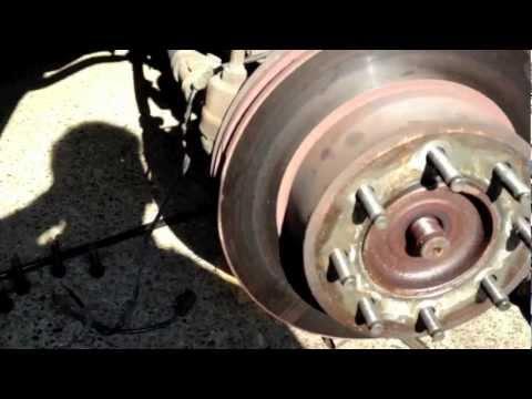 2003 Dodge Ram 2500 front wheel bearing removal