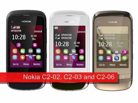 Nokia C2-02, C2-03 and C2-06