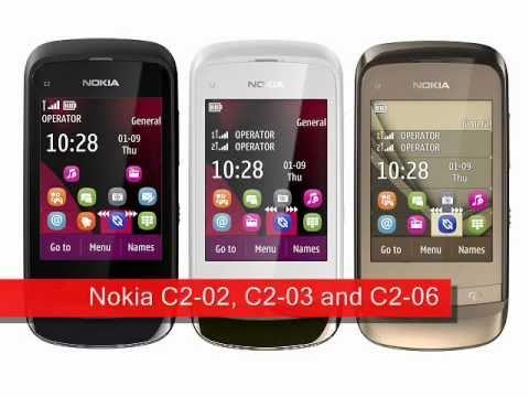 Nokia C2-02, C2-03 and C2-06