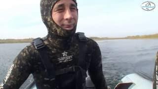 Подводная охота на Балхаше 8 10 2016