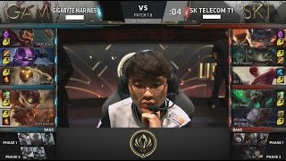 GAM (Levi Graves) VS SKT (Peanut Lee Sin) Highlights - 2017 MSI Group Stage D3