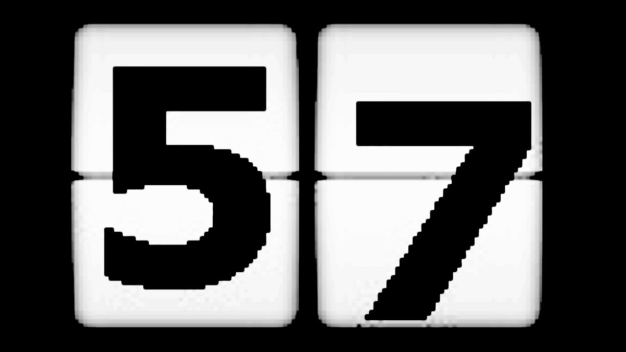 60 second clock 60 sec countdown  version 4   1 minute