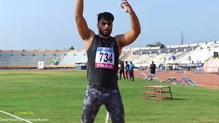 JUNIOR BOY'S  SHOT PUT FINAL. 16th FED CUP NATIONAL JR ATHLETICS CHAMPIONSHIPS 2018